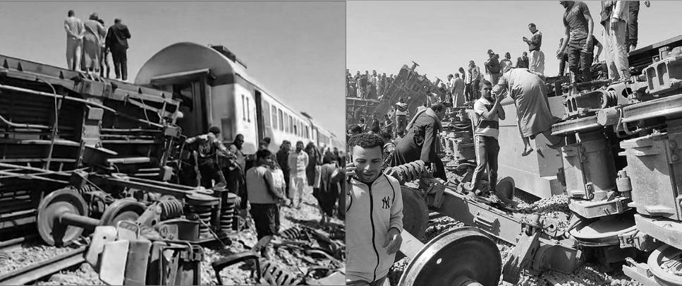 Two Trains Collision in Egypt Cario, 100+ Injured and 32 Lost Life
