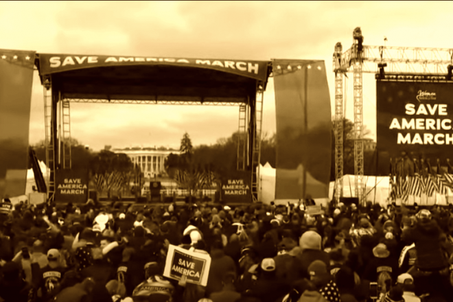 """Pre-Independence Day Rally """"Save America"""" by Trump"""
